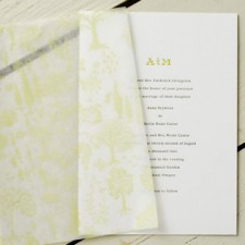 Arboretum Letterpress Wedding Invitations