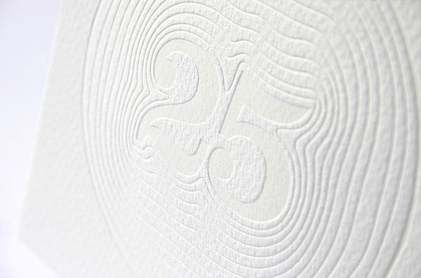 Silver Anniversary Letterpress Invitations