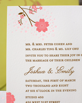 Cherry Blossom Wedding Invitations | Invitation Crush