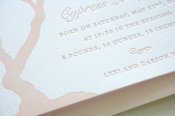 Parrott Design Letterpress Announcements