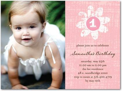 Distressed Bloom Party Invitations