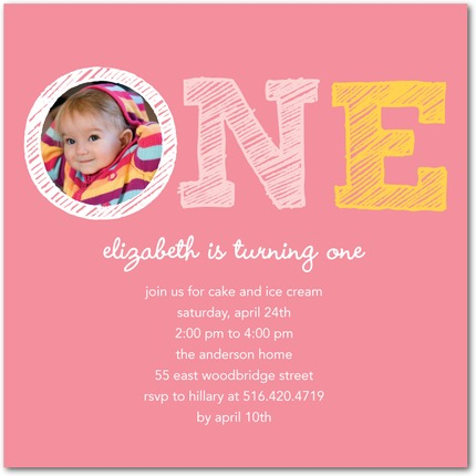 Sketch First Birthday Party Invitations Invitation Crush