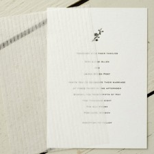 Egg Press Classic Letterpress Wedding Invitations