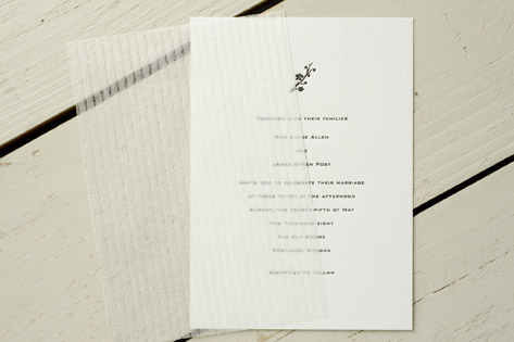 Classic Letterpress Wedding Invitations Invitation Crush – Classic Wedding Invitations