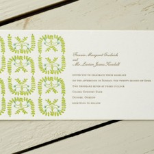 Egg Press Letterpress English Garden Invitations