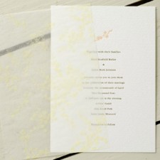 French Hotel Letterpress Wedding Invitations