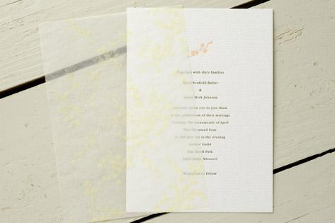 French Hotel Letterpress Wedding Invitations