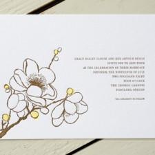 Sakura Letterpress Wedding Invitations