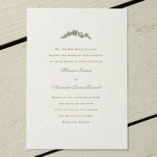Kentucky Derby Letterpress Wedding Invitations