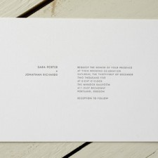 Manhattan Letterpress Wedding Invitations