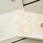 Mimosa Letterpress Wedding Invitations