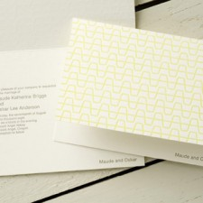 Modern Cups Letterpress Wedding Invitations