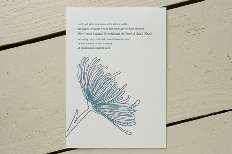 Mum Letterpress Wedding Invitations