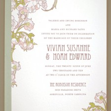 Nouveau Peonies Wedding Invitations
