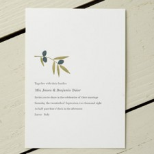Olea Letterpress Wedding Invitations