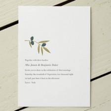 Olea Letterpress Wedding Invitations