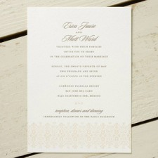 Ornamental Border Letterpress Wedding Invitations