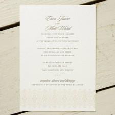 Ornamental Border Letterpress Wedding Invitations