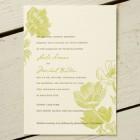 Poppies Letterpress Wedding Invitations