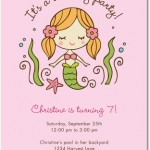 Sweet Mermaid Birthday Party Invitations