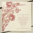 Tulipa Letterpress Wedding Invitations