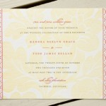 Vintage Tapestry Letterpress Wedding Invitations