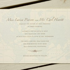 World Traveler Letterpress Wedding Invitations