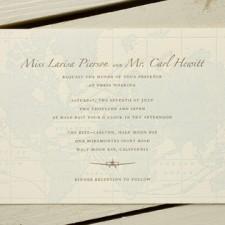 World Traveler Letterpress Wedding Invitations