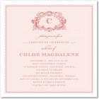 Antique Monogram Christening Invitations