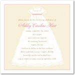 Baptism Gown Christening Invitations