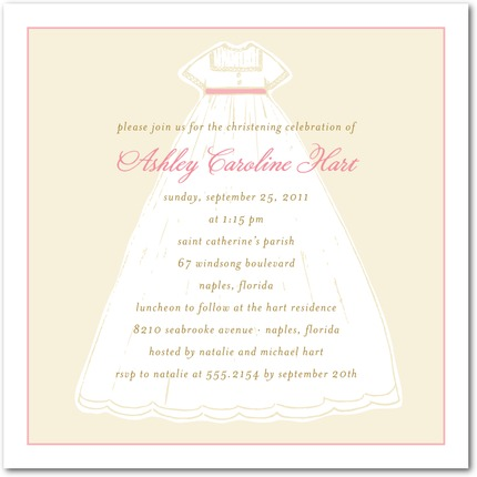 baptism gown christening invitations invitation crush