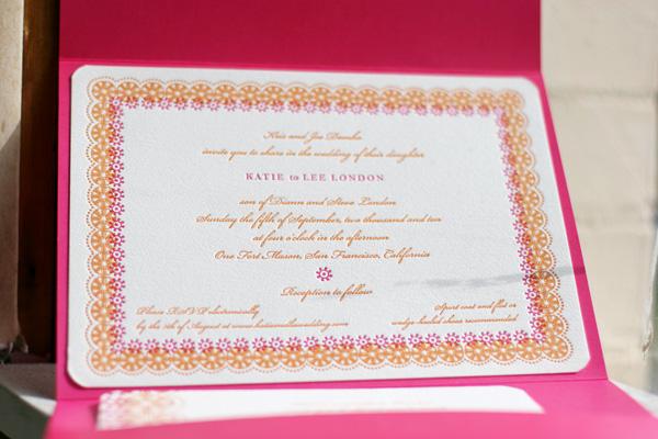 Bella Figura Esperanza Letterpress Wedding Invitations