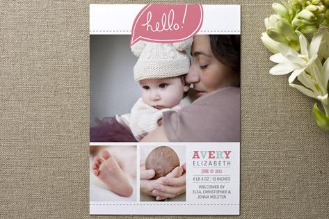 Bright Hello Birth Announcements