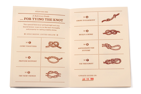 Vintage Guidebook Wedding Invitations