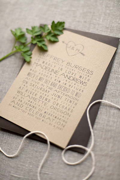 Faux Bois Orchard Wedding Invitations