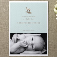 Our Dear Boy Birth Announcements