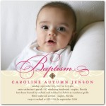 Precious Swirl Baptism Christening Invitations