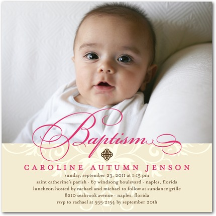 Baptism & Christening Invitations Archives - Invitation Crush