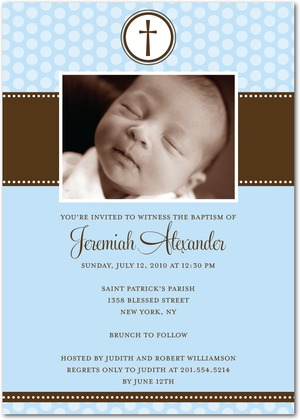 Sweet Reflection Baptism Invitations