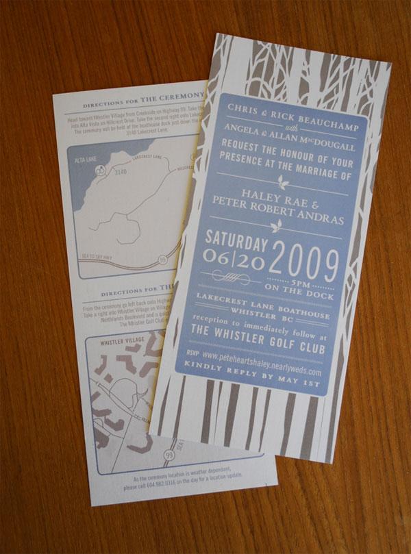 Woodland Custom Wedding Invitations