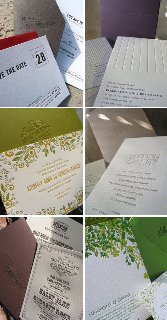 Affordable Letterpress Wedding Invitations Elum Umi
