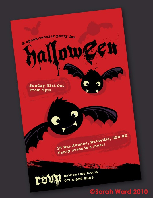Cute Halloween Party Invitations Gingerbred