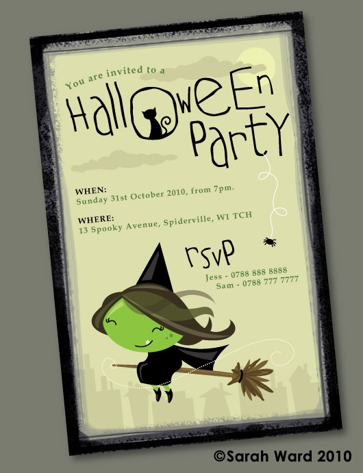 Cute Halloween Invitations By Gingerbred Invitation Crush