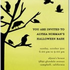 Halloween Party Invitations Crow's Nest
