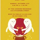Halloween Party Invitations Ghost Toast