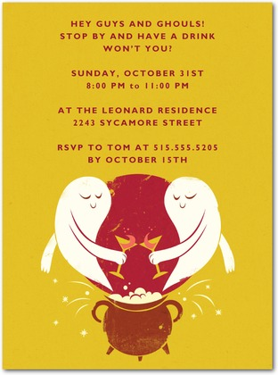 Ghost Toast Halloween Party Invitations Invitation Crush