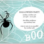 Halloween Party Invitations Spider Web