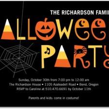 Halloween Party Invitations Spooky Soiree