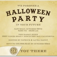 Halloween Party Invites Talking Board