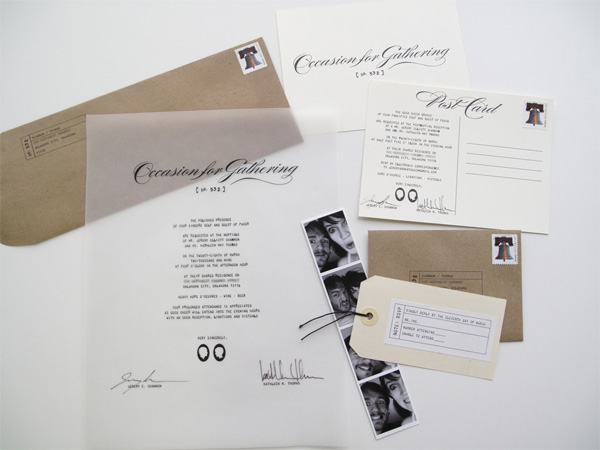 Jeremy & Kathleen Wedding Invitations